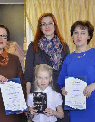 Ксения Старинская- скрипка, группа В - 3 место